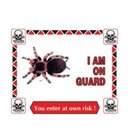 Picture of Tarantula Warning Sign #303
