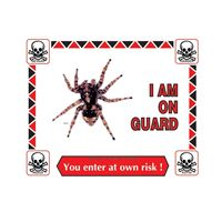 Picture of Tarantula Warning Sign #302
