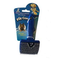 Blue Plastic Slicker Brush Small