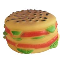 Latex Burger Squeak Toy