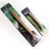 NP Bamboo Angled Reptile Feeding Long Tongs
