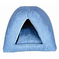 LAZY BONEZZ - DENIM CAT CAMPER FOAM BED
