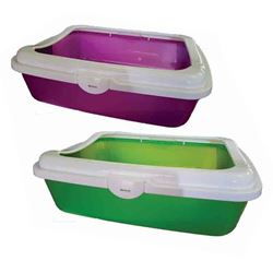 PAWISE - CAT LITTER TRAY WITH RIM - 48x36cm