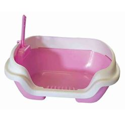 PAWISE - KITTEN LITTER TRAY # 1 / WITH SHOVEL - 40x30x12cm