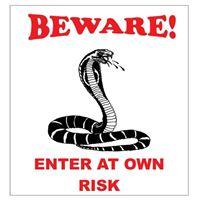 Beware Snake Sign