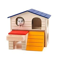 Carno Wooden Hamster House with Ramp and Porch