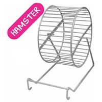 WHEEL HAMSTER ON STAND (METAL)