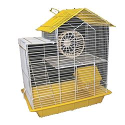 S.A.M. BARN HAMSTER CAGE DOUBLE STOREY w/House