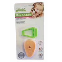 PLAY & CHEW CARROT TOY / CLIP