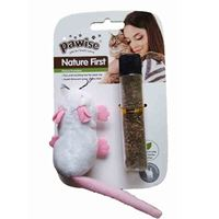 PAWISE - CAT TOY MOUSE W/CATNIP REFILL