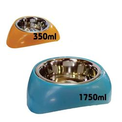 STAINLESS STEEL BOWL / PLASTIC STAND