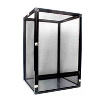 Black aluminum alloy reptile enclosure screen cage