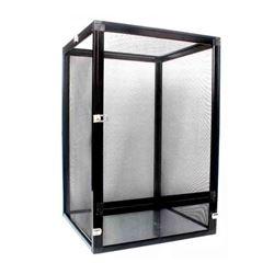 Black aluminum alloy reptile enclosure screen cage