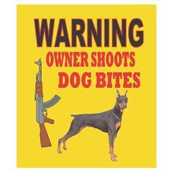 WARNING OWENER SHOOTS DOG BITES