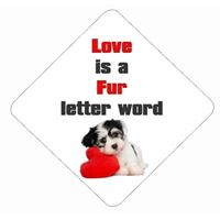 LOVE IS A FUR LETTER WORD