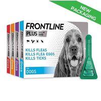 Frontline Plus for Dogs Tick & Flea Spot On Treatment - 3 Pack