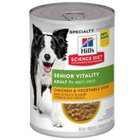 Hill's Science Plan Adult 7+ Senior Vitality Chicken & Vegetable Stew Dog Food