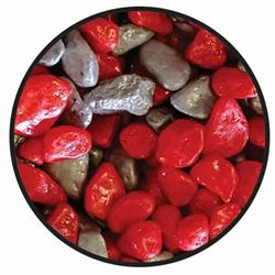 AK - COLOURED GRAVEL 2.5mm RED / SILVER 1kg
