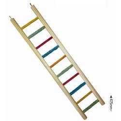 COCKATIEL LADDER - 10 STEP - ALL WOOD