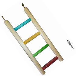 PARROT LADDER - 4 STEP - ALL WOOD
