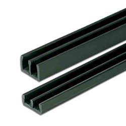 4mm Glass Slider Tracks Black 3M Set